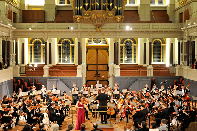 Image of Music concert held within the Sheldonian Theatre