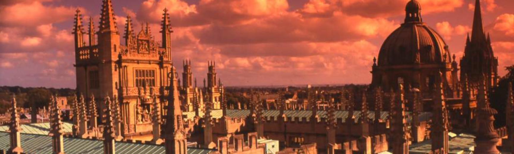 oxford spires in pink sky carousel