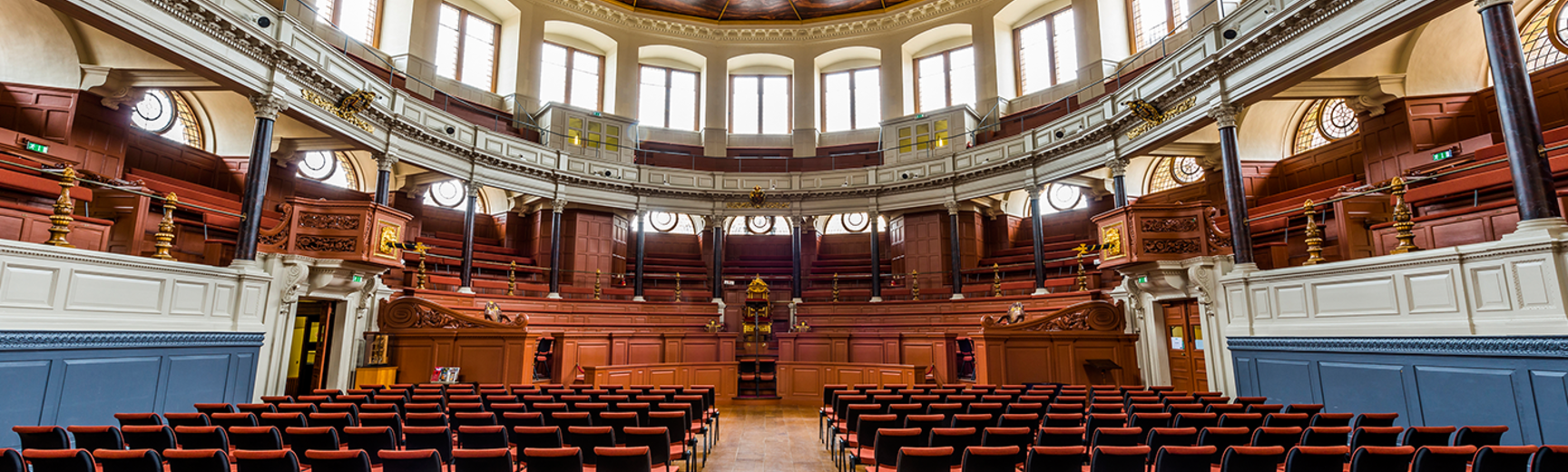 Image of Sheldonian concert layout, chair placed in the line