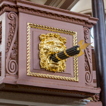 Image of Proctors box inside the Sheldonian Theatre